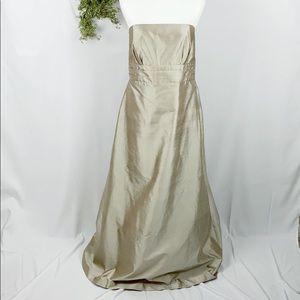 Jenny Yoo Kayla Silk Shantung Strapless Gown 🌿